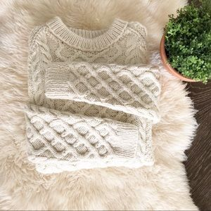Vintage hand made cable knit sweater